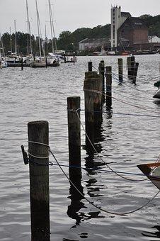 Port, Wooden Posts, Pile, Coast, Mole, Lake