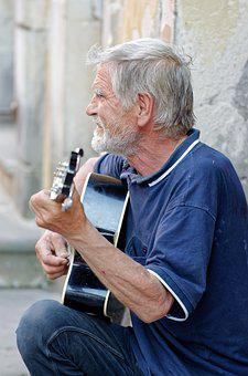 Man, Person, Male, Old, Singing, Voice, Guitar
