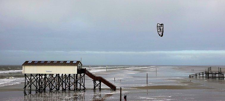 Beach, Spo, North Sea, Vacations, Schleswig, Sand