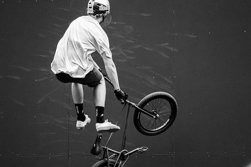 Cycling, Sport, Bmx, Bike, Man, Jump, Dangerous, Trick