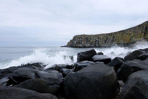 Waves, Shore, Rocks, Surf, Spray