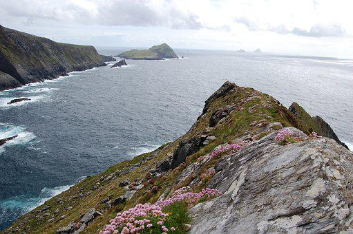 The Cliffs, Kerry, Ireland, The Islands Of The Skelligs