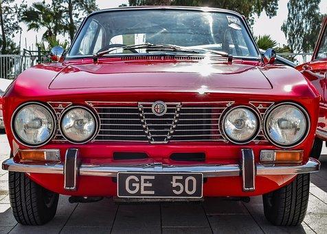 Alfa Romeo, Car, Antique, Vintage, Vehicle, Classic