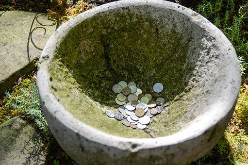 Money, Coins, Wealth, Bowl