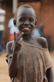 Uganda, Africa, Poverty, Young, Black, Life, Child
