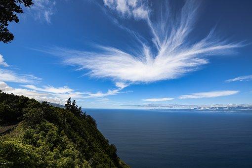 Azores, Sky, Clouds, Spring Clouds, Atlantic, Ocean