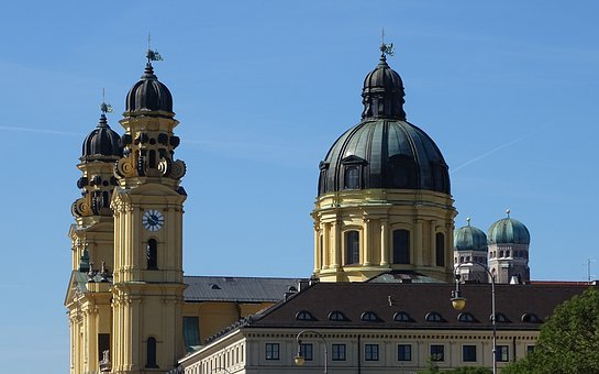 Theatinerkirche, Church, Frauenkirche, Viewpoint