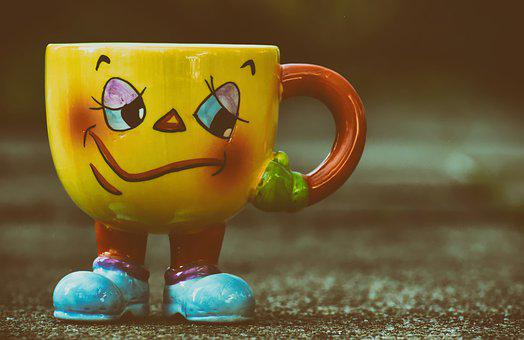 Cup, Funny, Face, Coffee Cup, Cheerful, Coffee Mugs
