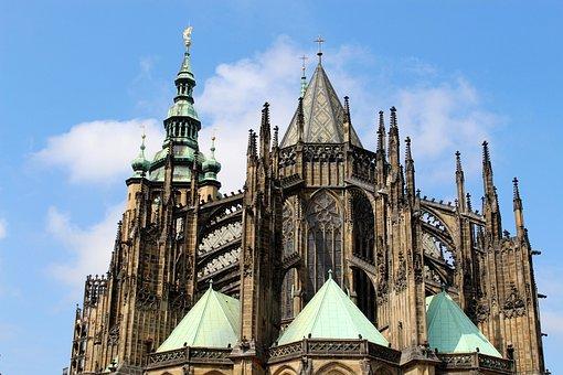 Prague, St Vitus Cathedral, Czech Republic, Dom, Church