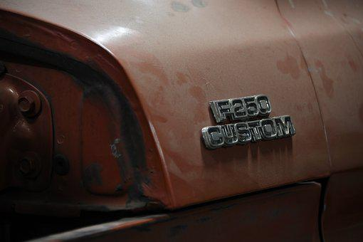Truck, F250, Emblem, Vintage, Bodyshop