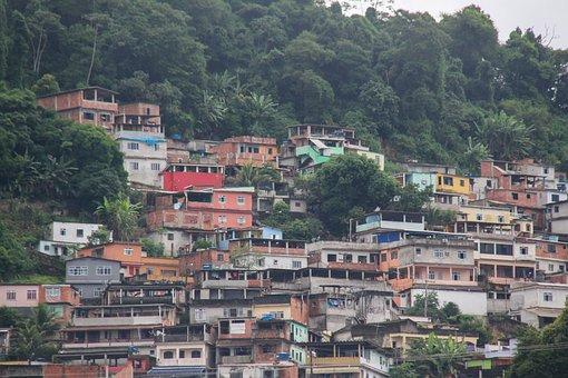 Favela, Rio De Janeiro, Brazilwood, Housing, Pauvretė