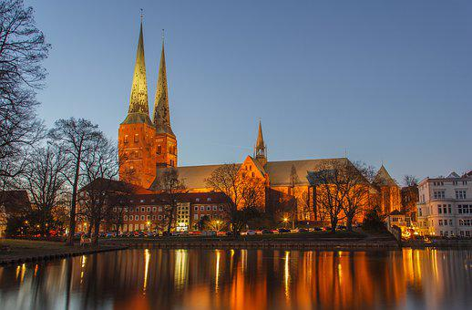 Lübeck Cathedral, Church, Lübeck, Mecklenburg, Germany