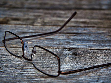 Glasses, Wood, Structure, Bokeh, Desk, Background
