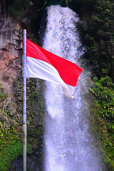 Indonesia, National, Flag, Asia, Country, Nature