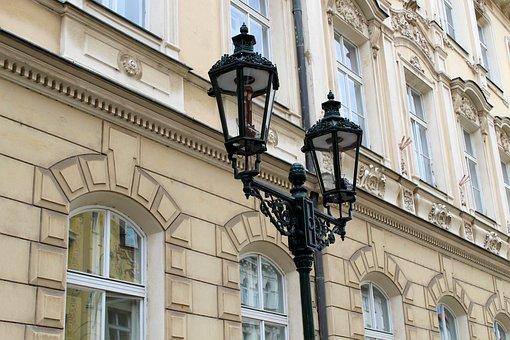 Prague, Street Lamp, Lamp, Historic Center