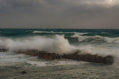 Rocky Coast, Waves, Nature, Sea, Shore, Landscape, Sky