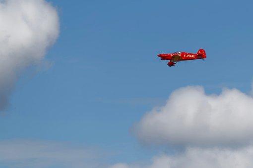 Aircraft, Sky, Flight, Clouds, Aviation, Meeting
