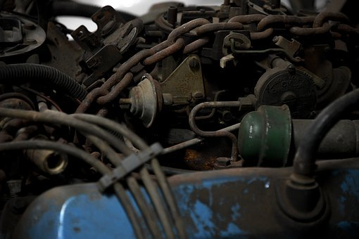 Engine, Chain, Metal, Automotive, Motor, Repair