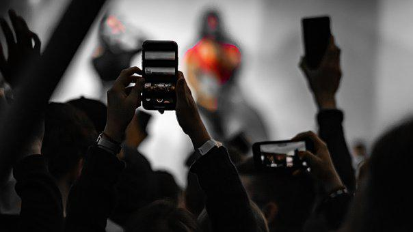Music, Hands, Smartphone, Concert, Stage