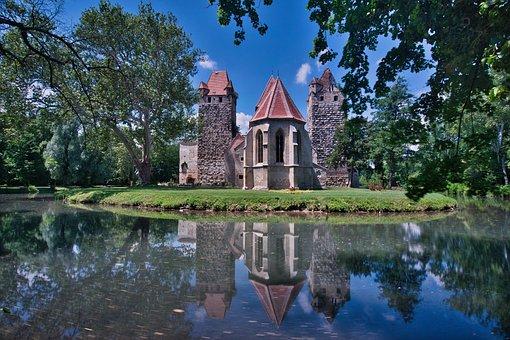 Castle, Mirroring, Lake, Water, Building, Nature