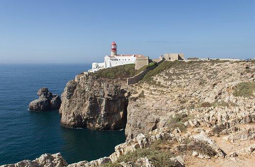 Cabo De São Vicente, Algarve, Portugal, Sea, Rock
