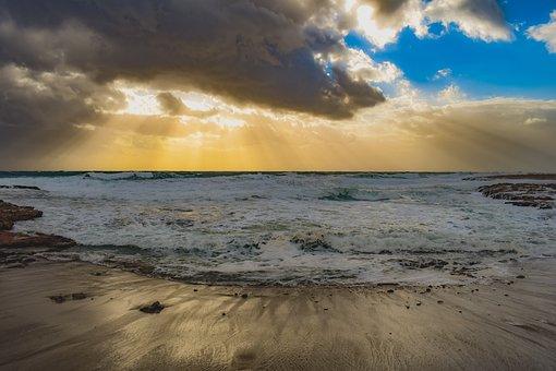 Beach, Sand, Sea, Nature, Sky, Clouds, Afternoon