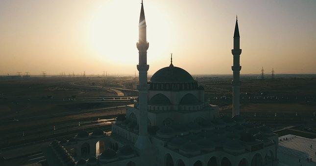 Mosque, Sharjah Mosque, Sharjah, Uae, Architecture