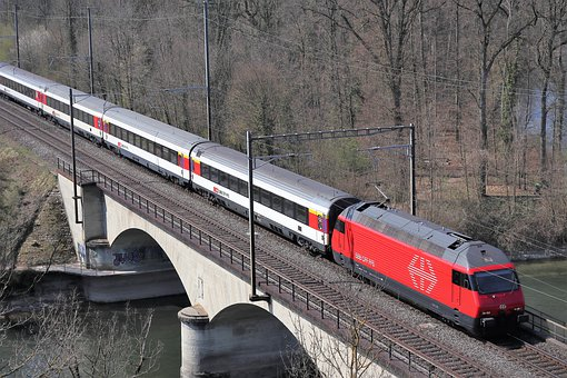 Railway, Sbb, Switzerland, Train, Rails, Track