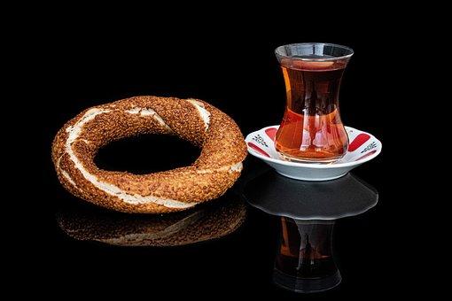 Bagel, Pretzels, Bakery, Food, Simit, Tea, Turkish Tea