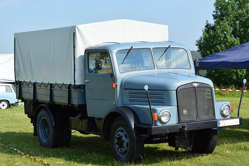 Oldtimer, Truck, Commercial Vehicle, Traffic, Old