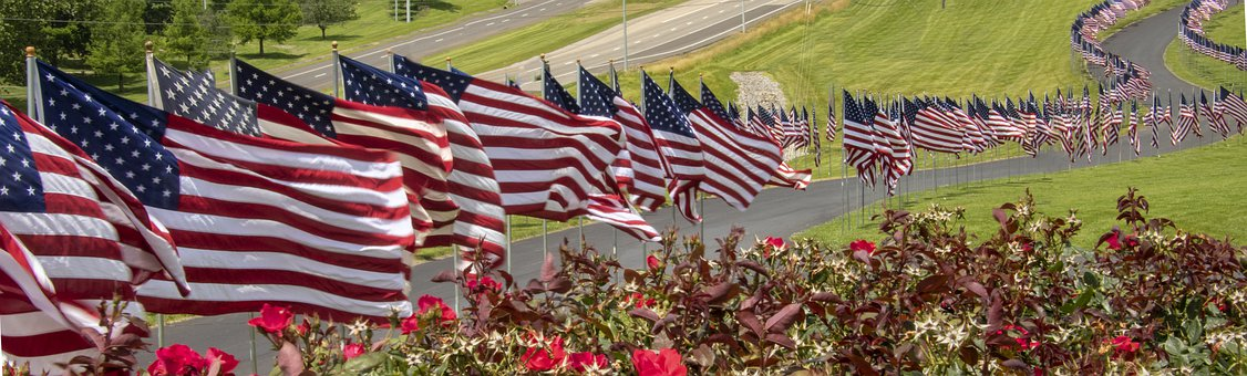 Flags, American, America, United States, Usa, States