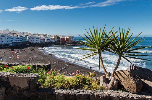 Puerto De La Cruz, Tenerife, Spain, Surf, Water, Sea