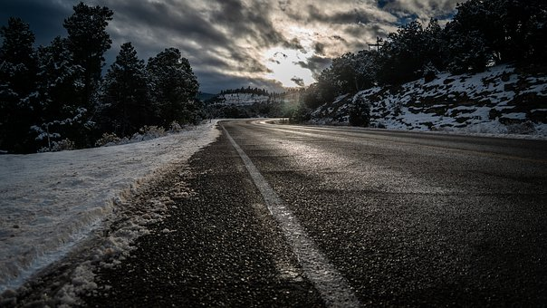 Road, Snow, Highway, Winter, Landscape, Nature, Cold