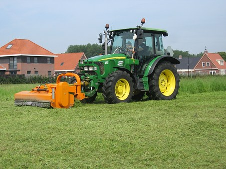 Tractor, Grass, Mow, Agrimotor, Agriculture, Farm
