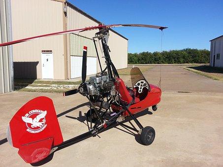 Aircraft, Gyrocopter, Aviation, Gyroplane, Autogyro