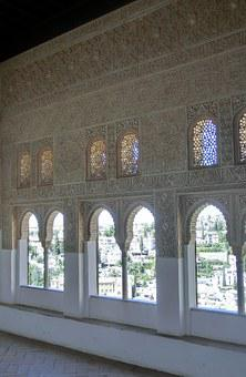 Nasridenpalast, Alhambra, Spain, Andalusia, Relief, Art