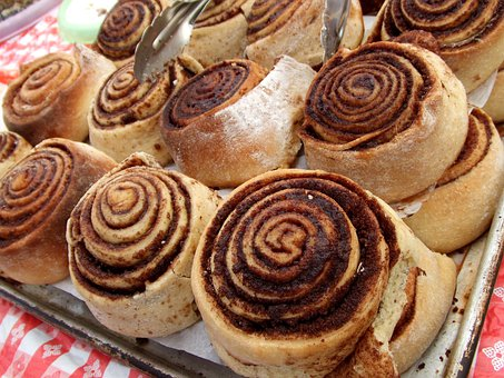 Cinnamon, Rolls, Food, Breakfast, Baked, Goods, Baking