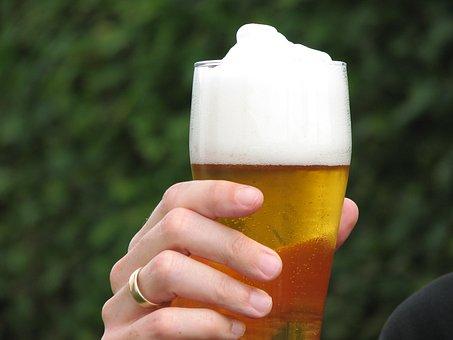 Hefeweizen, Beer, Hand, Wheat Beer, Wheat, Foam