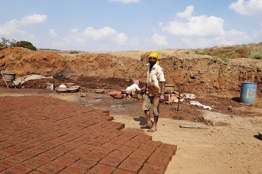 Brick-laying, Brick-making, Worker, Dharwad, India