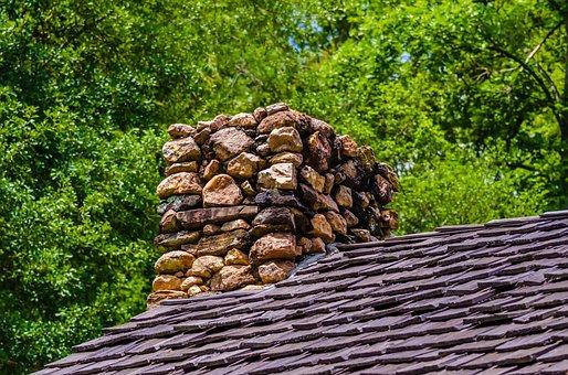 Building, Cabin, Chimney, Exhaust, Fire, Heat, Home