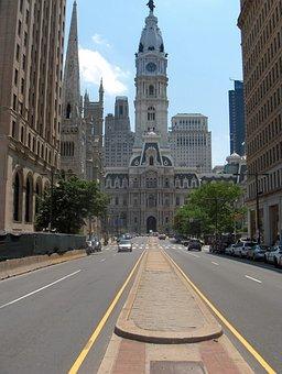 Philadelphia, Downtown, City, Building, Pennsylvania