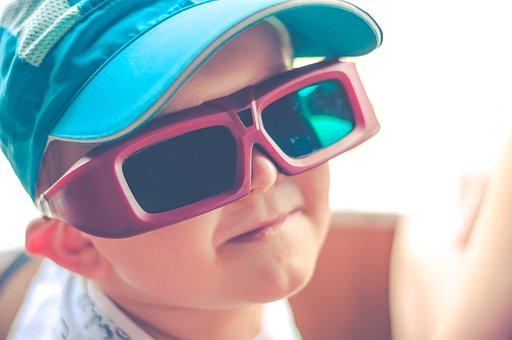 Child, Face, A Smile, Cap, Glasses, 3d, Virtual Reality