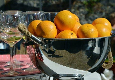 Oranges, Orange Juice, Glasses, Citrus Fruit, Fruit