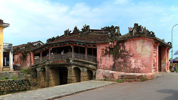 Vietnam, Hoi An, Covered Bridge, Danang