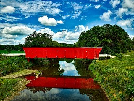 Covered Bridge, Landmark, Historic, Madison County