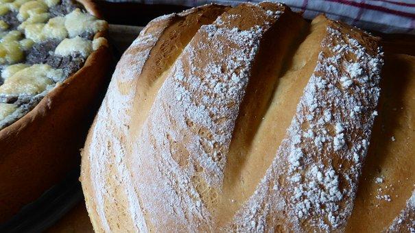 Bread, Yeast Bread, Dough, Crispy, Mealy, Flour