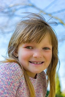 Girl, Child, Laugh, Small, Nature, Children, Face