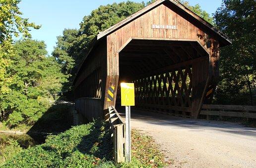State Road Bridge, Conneaut Oh, Covered Bridge, Fall