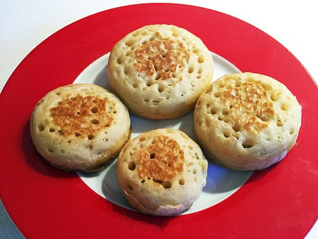 Crumpets, Food, Baking, Bread, Tea, English, Yeast