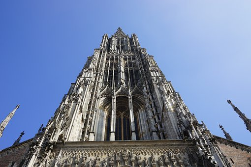 Ulm Cathedral, Tower, Frontal, Front, Ornament